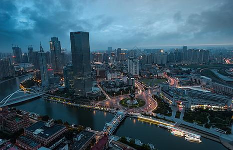 天津海河广场世纪钟风光摄影图片