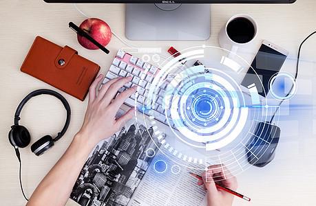 商务科技传递讯息资源改变生活图片
