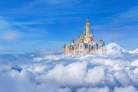 天空之城漂浮在空中的城堡图片