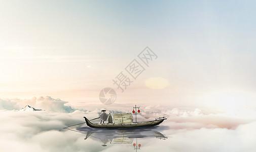 梦飞船在天空中飞行图片