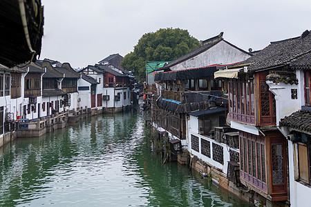 秦淮河上的江南晨景图片
