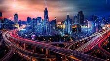 高科技城市背景图片