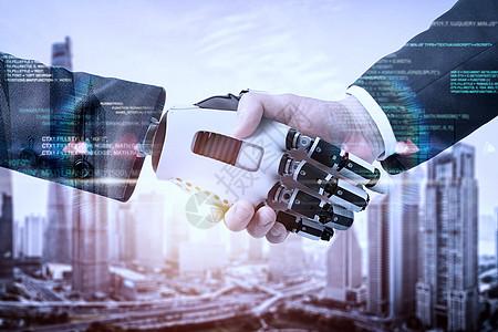 商业握手科技图片