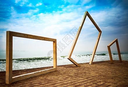 美丽的海边景色图片