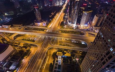 北京繁华都市夜景CBD国贸桥夜景图片