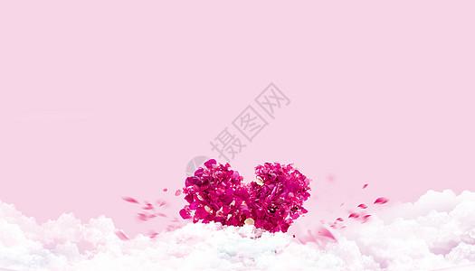 玫瑰花拼凑成的爱心图片