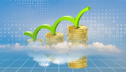 蓝色商务金融创意背景图片