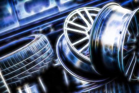 金属轮毂图片