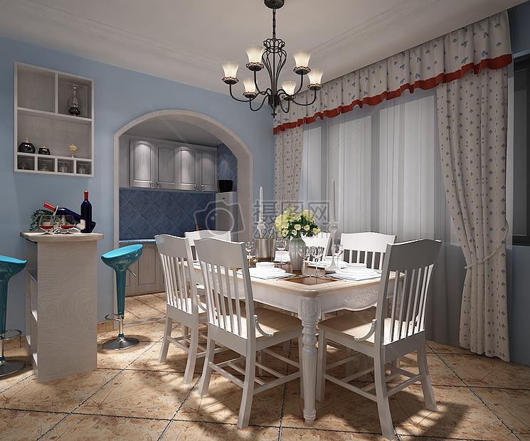 欧式风格餐厅效果图摄影图片免费下载_室内设计图库