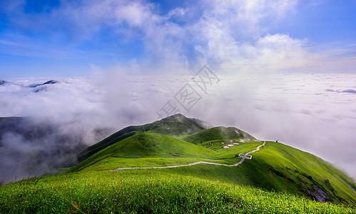 大美山河 云海图片