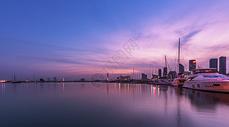码头光影图片