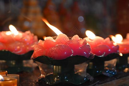 佛教寺院祈福莲花灯图片