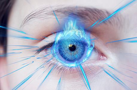 火蓝眼睛图片