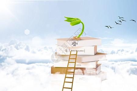 云海上的书本图片