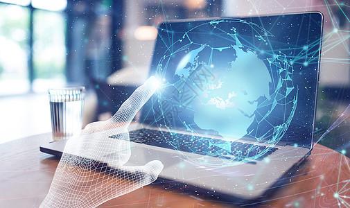 桌面电脑科技背景图片