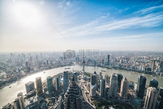俯视城市风景图片