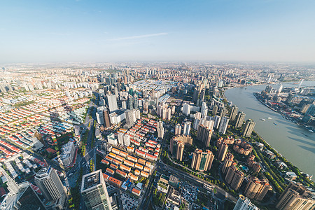 俯视城市风景高清图片