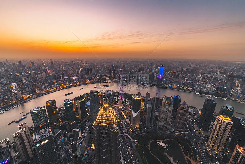 俯拍城市风光夜景图片素材_免费下载_jpg图片格式_vrf