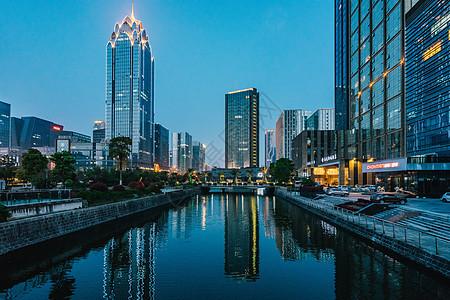 宁波水街夜景拍摄图片