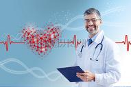 医生检查健康心脏图片