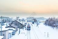 日本雪景素材图片