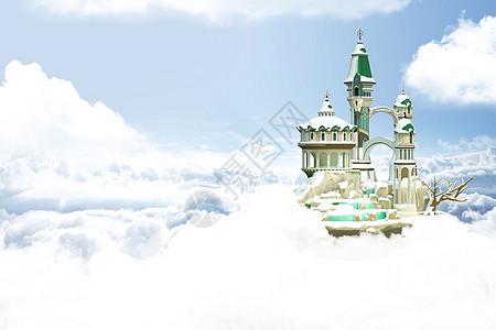 天空古堡图片