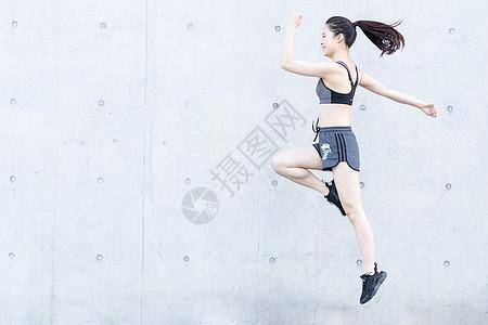 年轻人户外跑步锻炼图片