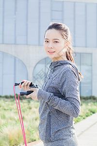 运动女性脸部特写图片