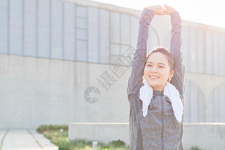 户外运动热身伸展图片