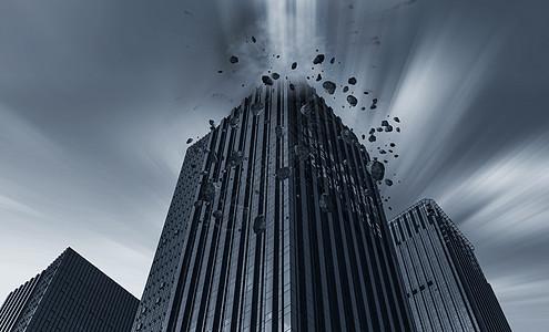 城市建筑大厦爆炸灾难坍塌大桥图片