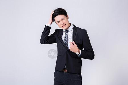 焦虑压力巨大的商务男士形象图片
