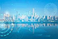 城市科技蓝色背景图片