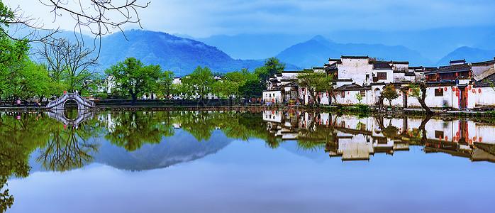 宏村民居徽派建筑村落图片