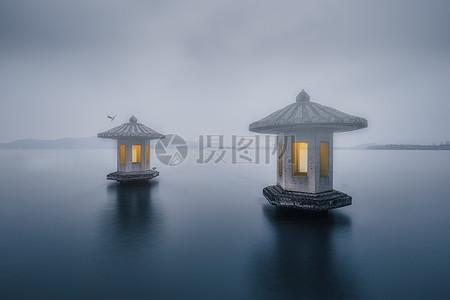烟雨西湖图片