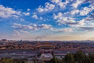 北京晴天下的故宫博物院全景图片