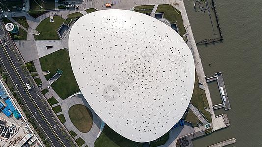 航拍梅赛德斯奔驰文化中心图片