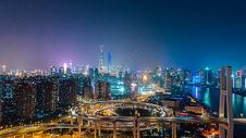 现代都市城市夜景图片