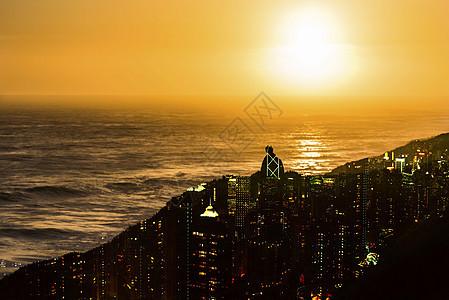 海上日落图片