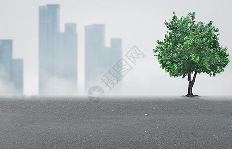 灰色环保大树背景图片