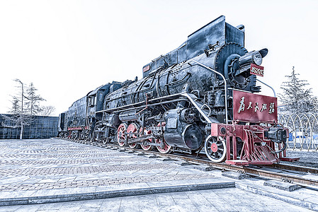 老式蒸汽火车图片