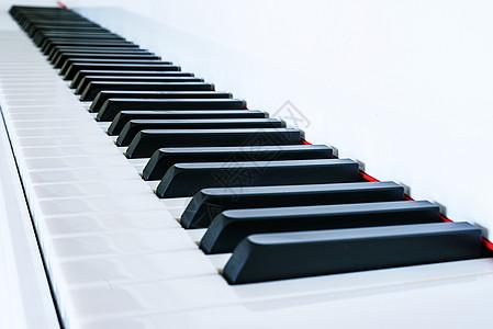 钢琴黑白键特写图片