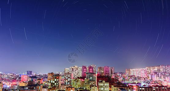 城市里的星空图片