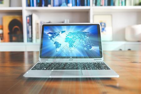 桌面电脑科技蓝光图片