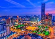 繁华城市风光夜景建筑图片