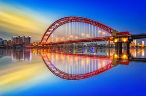 城市桥梁风光图片