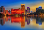 武汉汉秀城市风光图片
