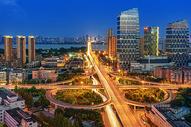 武汉城市立交桥夜景图片