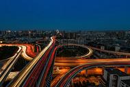武汉立交交通夜景图片