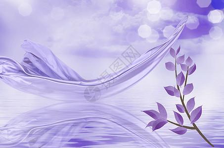 紫光花朵图片
