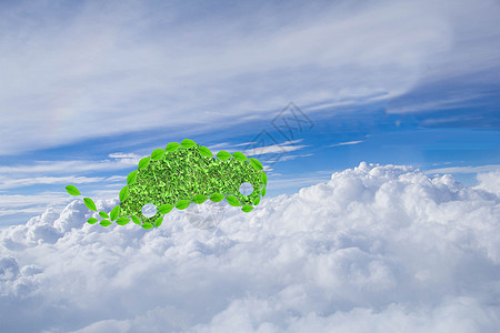 飞上云霄的绿色汽车图片
